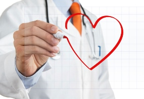 doctor drawing a heart